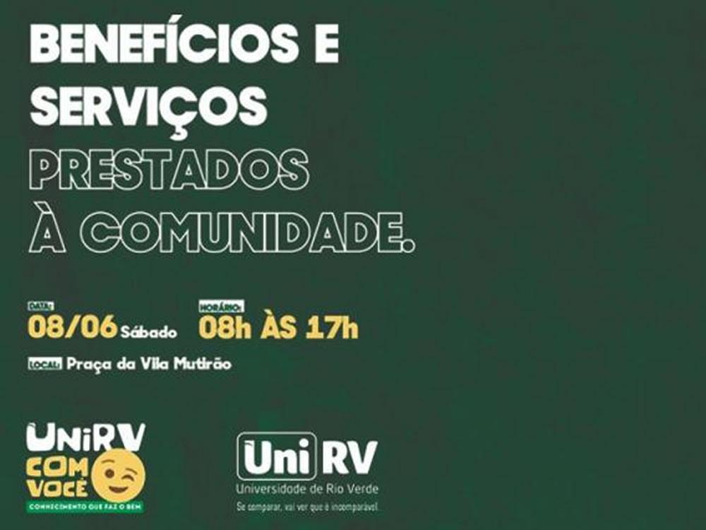 """Imagem de Programa """"UniRV Com Você"""" levará benefícios e prestação de serviços aos bairros"""