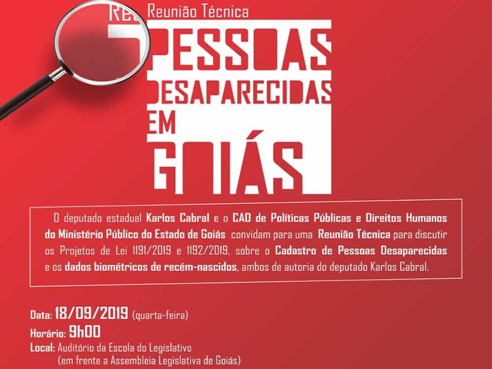 Imagem de Karlos Cabral promove reunião para discutir projetos sobre pessoas desaparecidas em Goiás