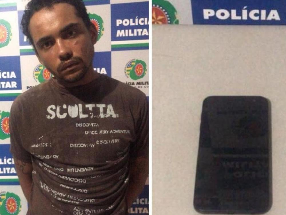 Imagem de Ladrão de celular preso em Jataí