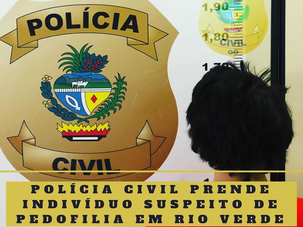 Imagem de Suspeito de pedofilia preso em Rio Verde