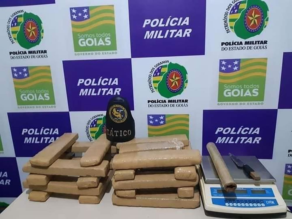 Imagem de Homem é preso com 18 kg de maconha em Rio Verde