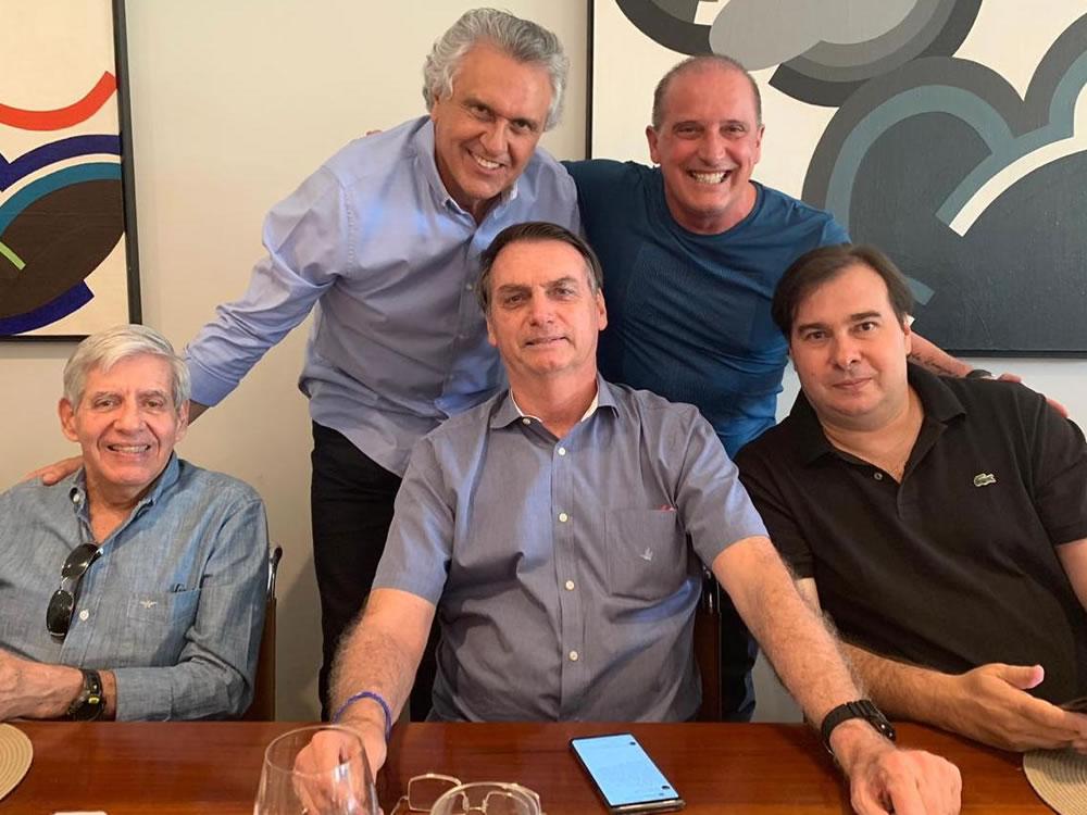 Imagem de Caiado almoça com Bolsonaro e tenta liberação de R$ 1,06 bi do orçamento federal