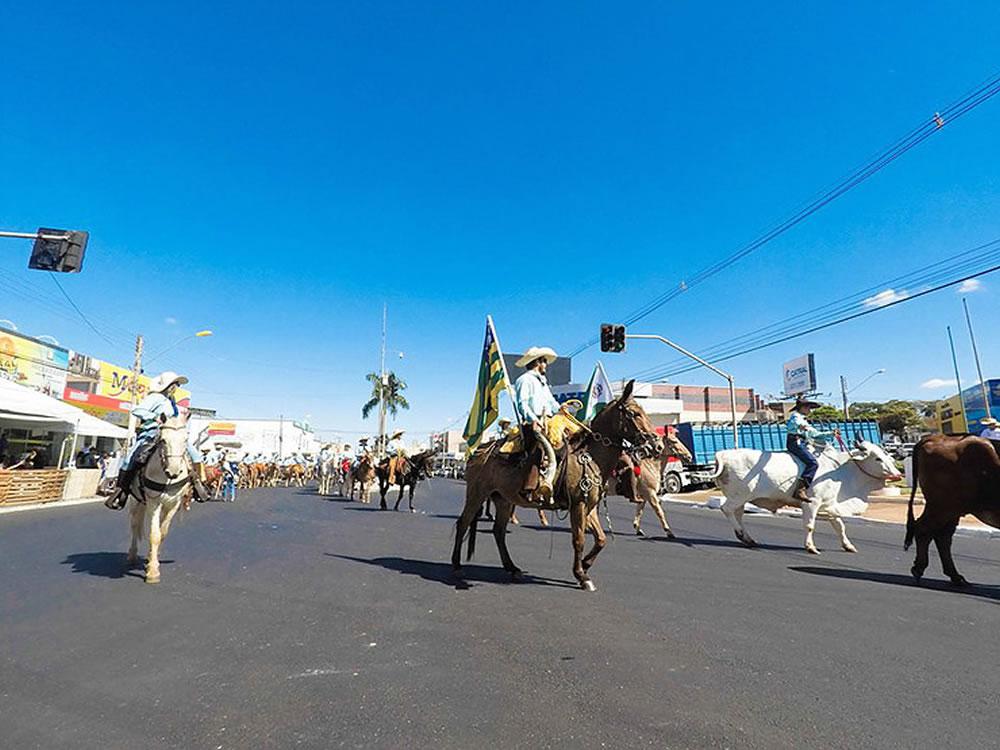 Imagem de Cavaleiros entram na avenida domingo
