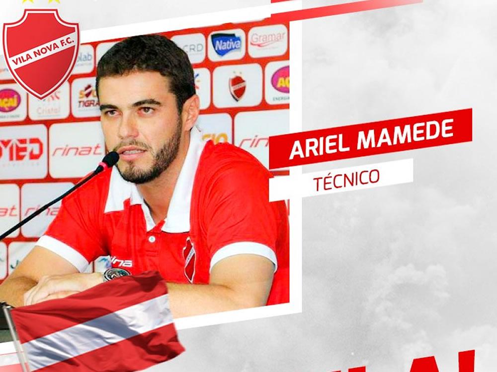 Imagem de Vila Nova anuncia Ariel Mamede como técnico