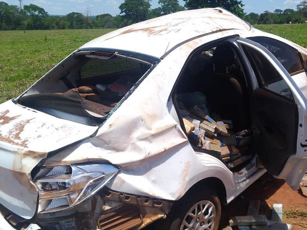 Imagem de PM intercepta carro com 700 quilos de maconha, em Cachoeira Alta