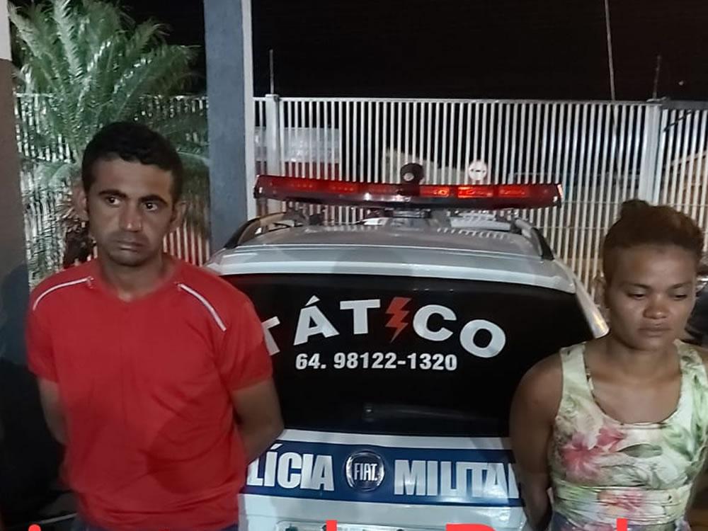 Imagem de PM prende casal suspeito de furto em comércio de Rio Verde