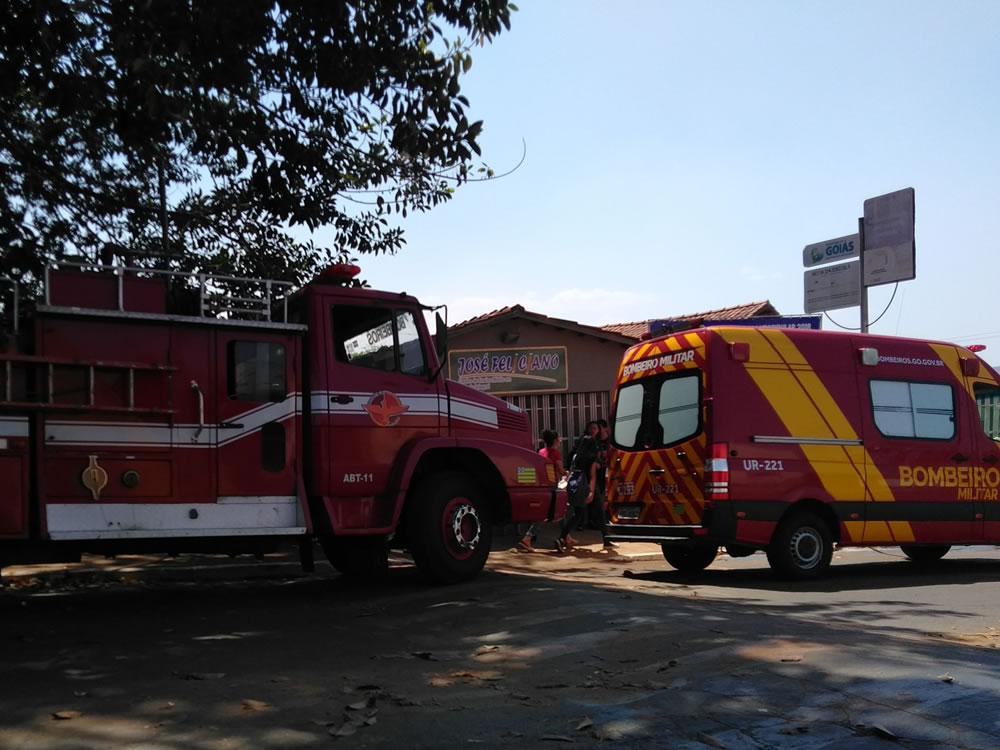 Imagem de Princípio de incêndio assusta funcionários e estudantes de escola em Jataí