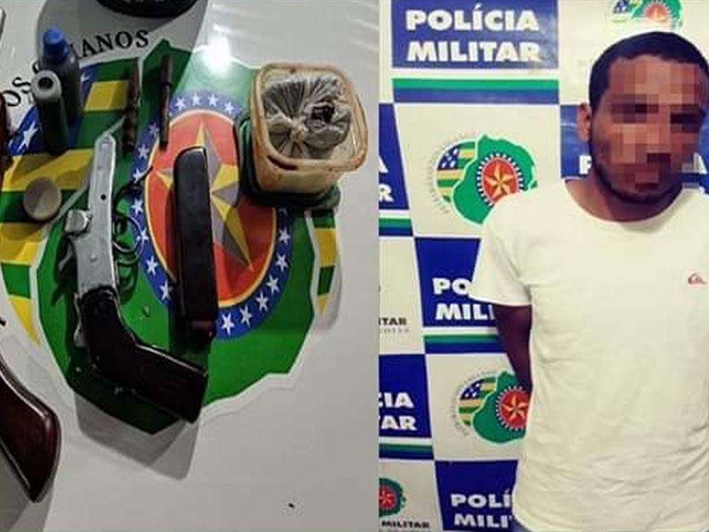 Imagem de Detento do semiaberto é preso com arma caseira em Rio Verde