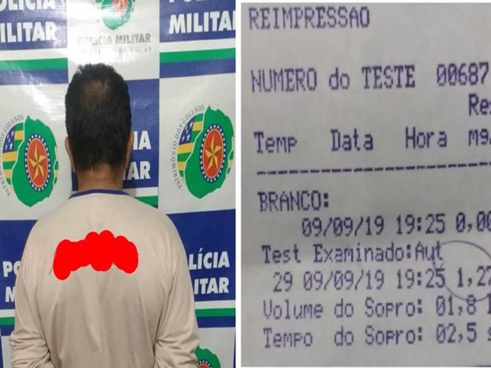 Imagem de Motorista embriagado preso em Santa Helena de Goiás