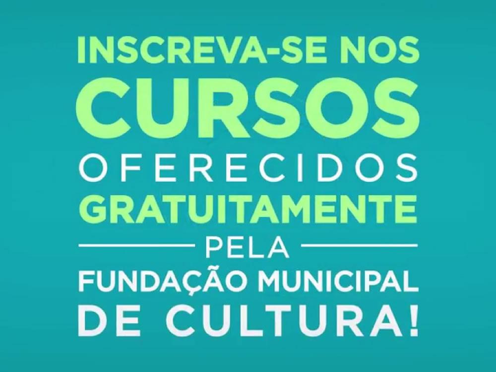Imagem de Abertas as inscrições para os cursos da Fundação Municipal de Cultura