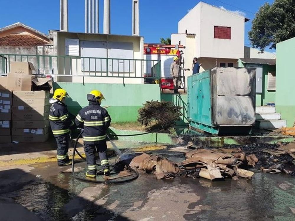 Imagem de Hospital Municipal é alvo de incêndio criminoso em Rio Verde