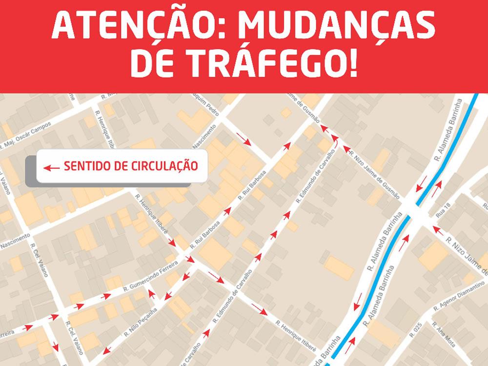 Imagem de Trânsito muda no centro de Rio Verde