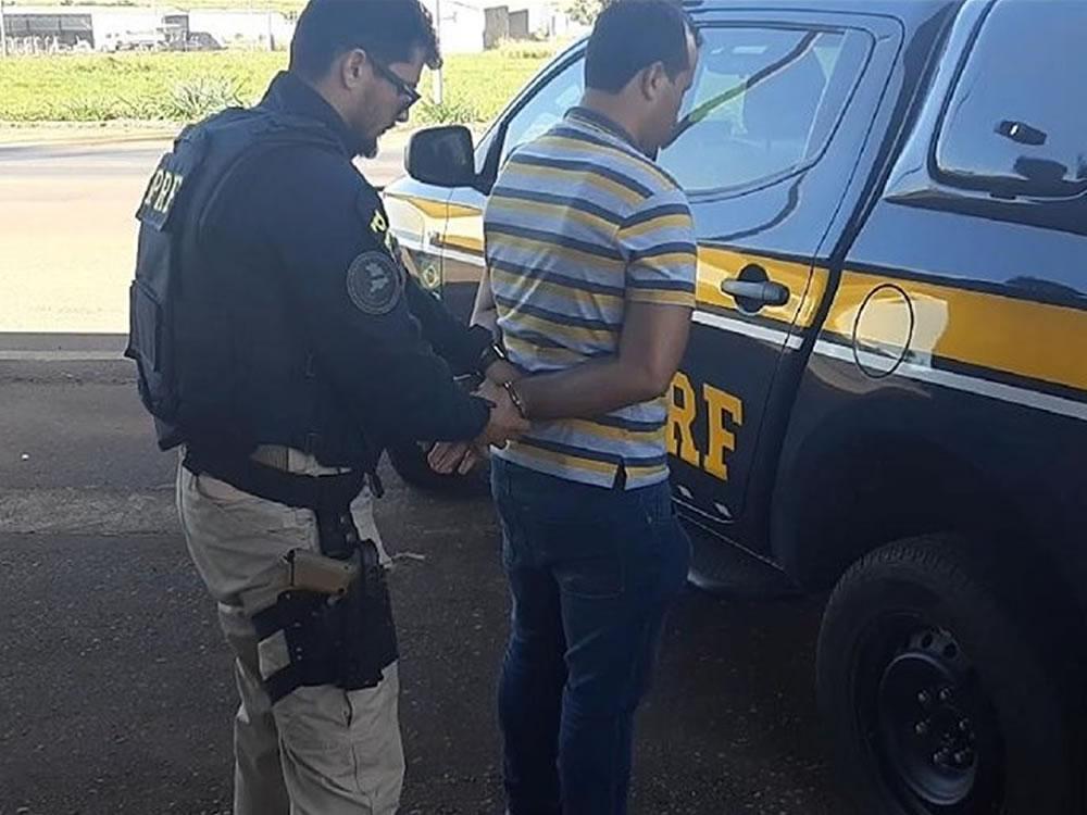 Imagem de Foragido preso pela PRF em Rio Verde