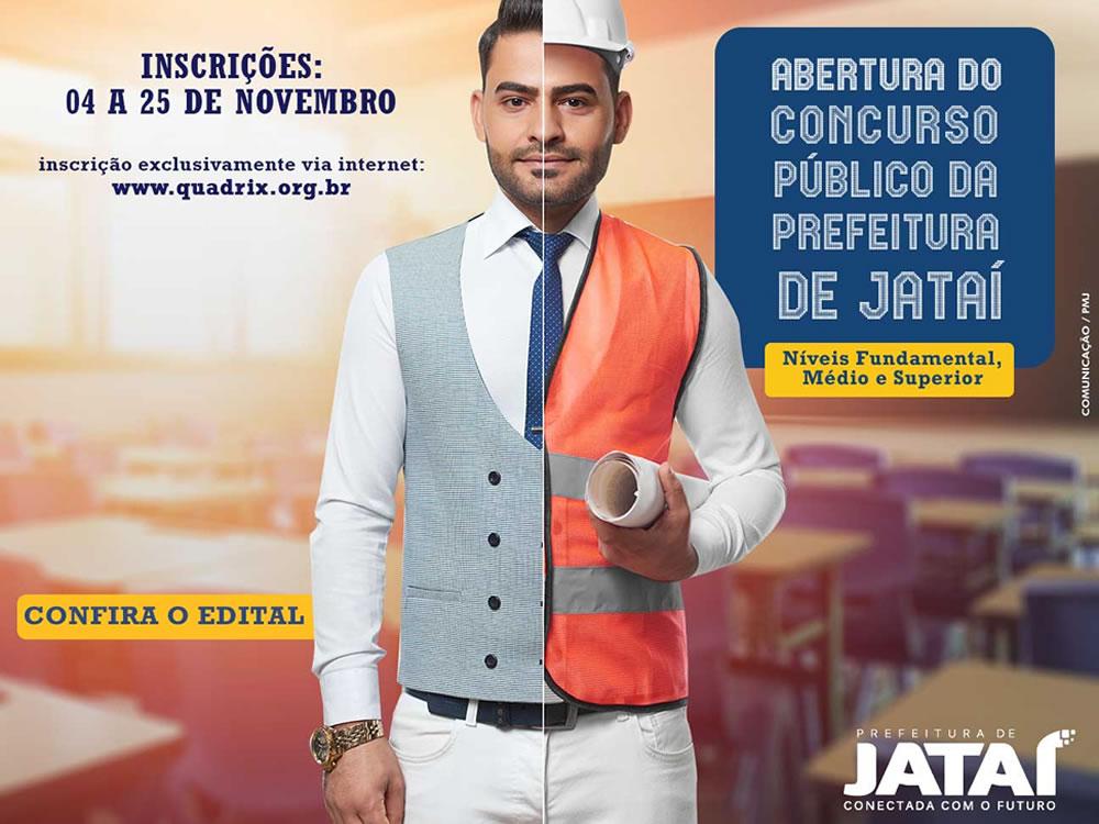 Imagem de Concurso da Prefeitura de Jataí abrirá inscrições em novembro