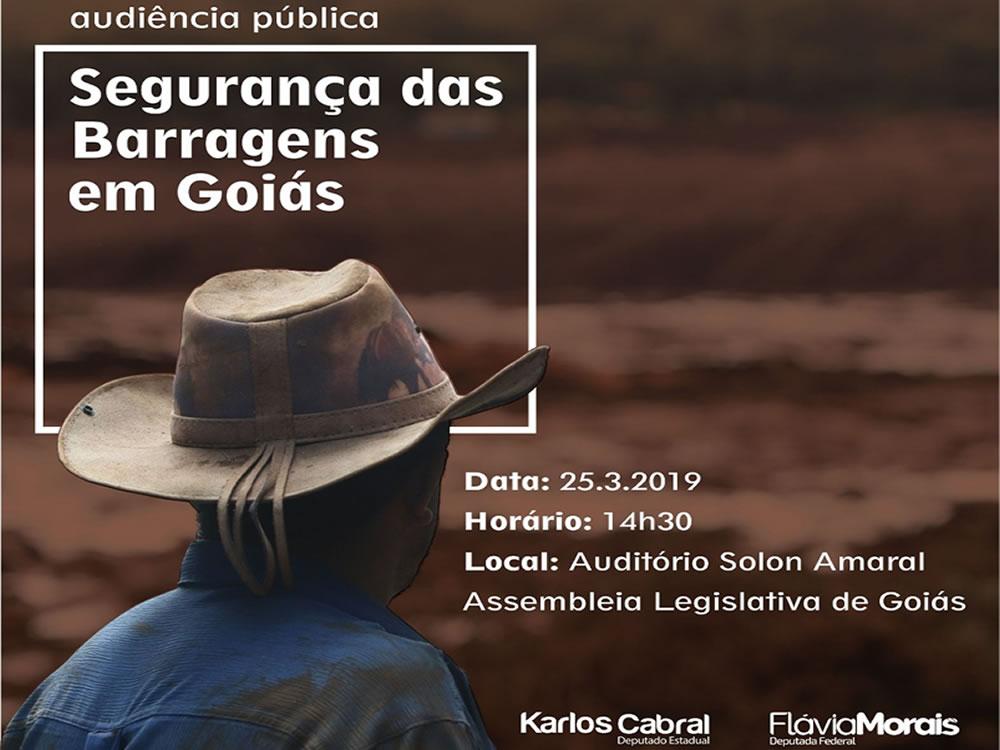 Imagem de Flávia Morais e Karlos Cabral realizam audiência pública sobre barragens em Goiás