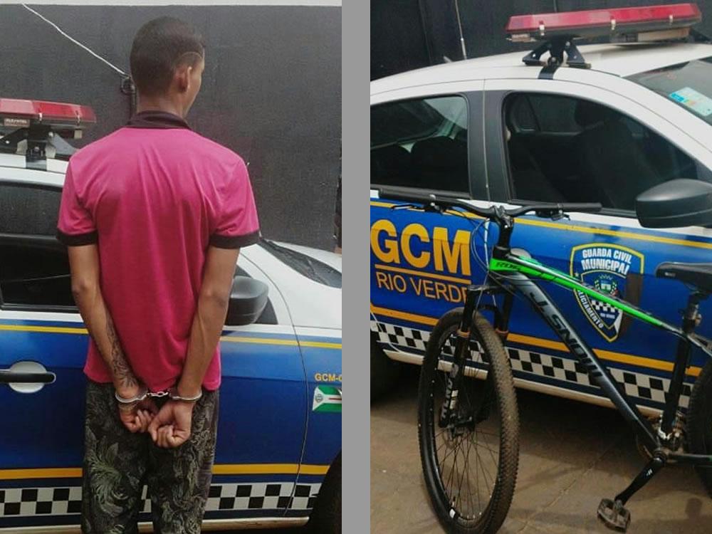 Imagem de GCM prende indivíduo com bicicleta furtada em Rio Verde