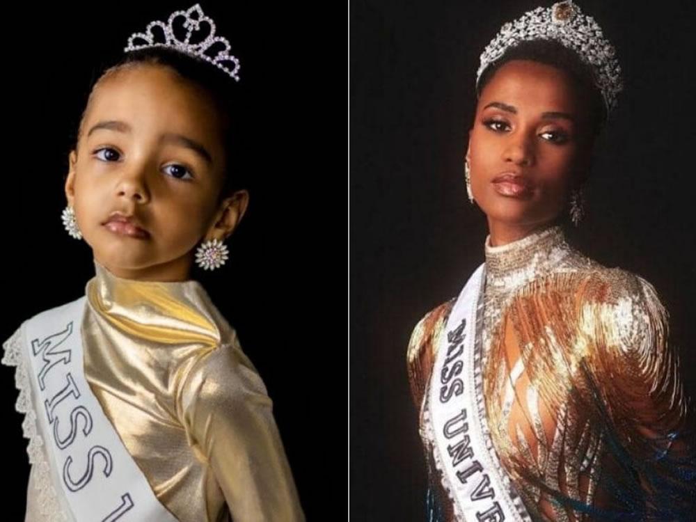 Imagem de Rio-verdense de 4 anos comove web com ensaio inspirado na Miss Universo