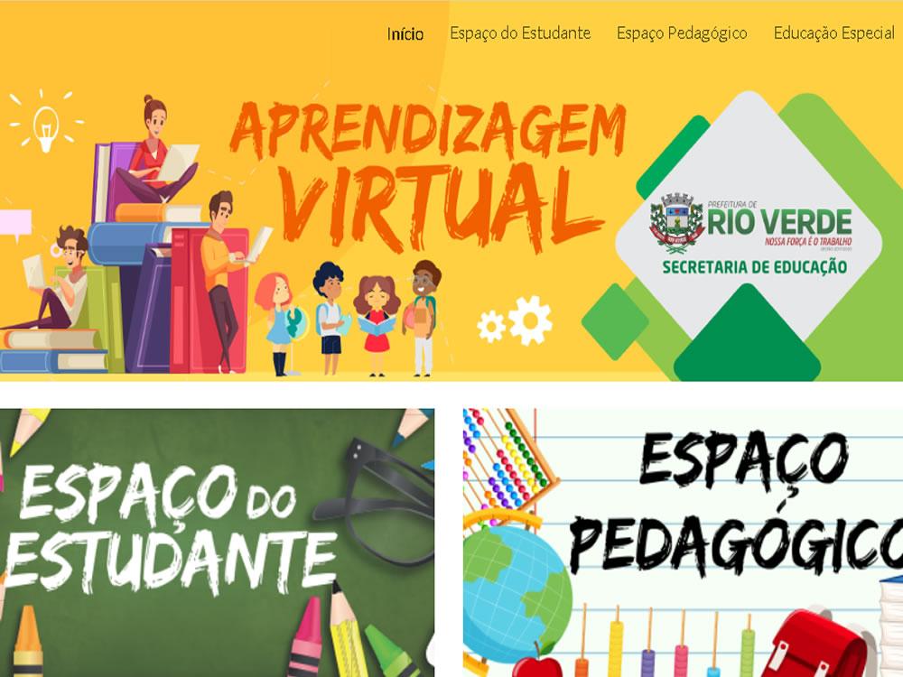 Imagem de Prefeitura de Rio Verde lança site para complementar aulas online